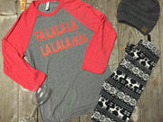 FaLaLa Wine Shirt, CHRISTMAS, GRAPHICS, badhabitboutique