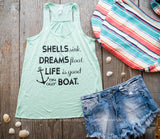 Seashell Dreams Tank - BAD HABIT BOUTIQUE