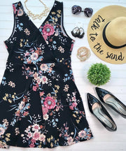 Curvy Girl Floral Dress, SALE, Mai Tai, badhabitboutique