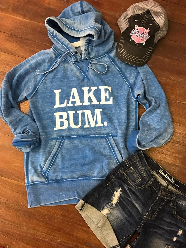 (LIMITED EDITION ) Lake Bum Hoodie 8915 Blue, LAKE, GRAPHICS, BAD HABIT BOUTIQUE