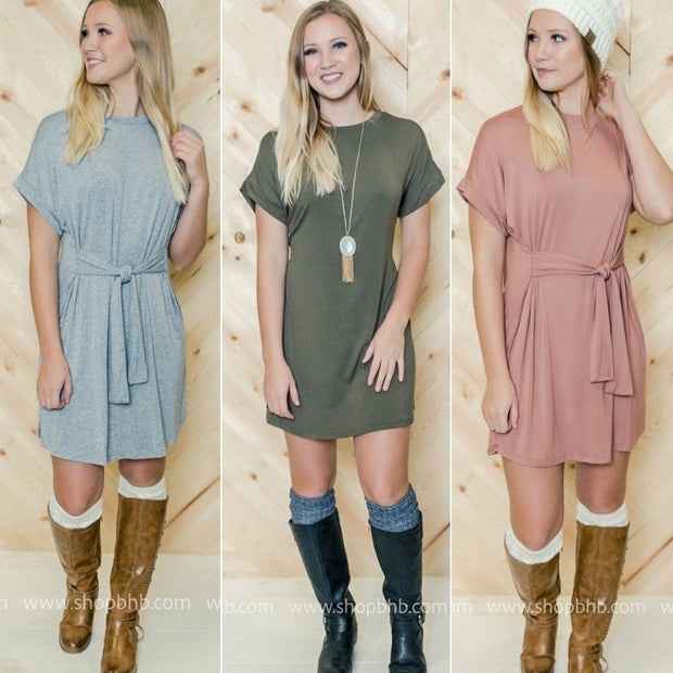 Tie Front T-Shirt Dress