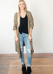 Front Pocket Duster Coat | Olive, OUTERWEAR, Hayden, badhabitboutique