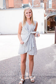 Stripe Tie-Front Dress