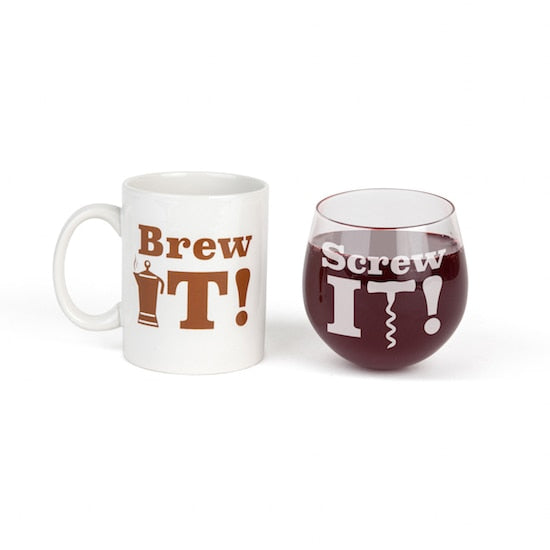 Brew it or Screw it  Gift Set, HOME, BIG MOUTH, BAD HABIT BOUTIQUE