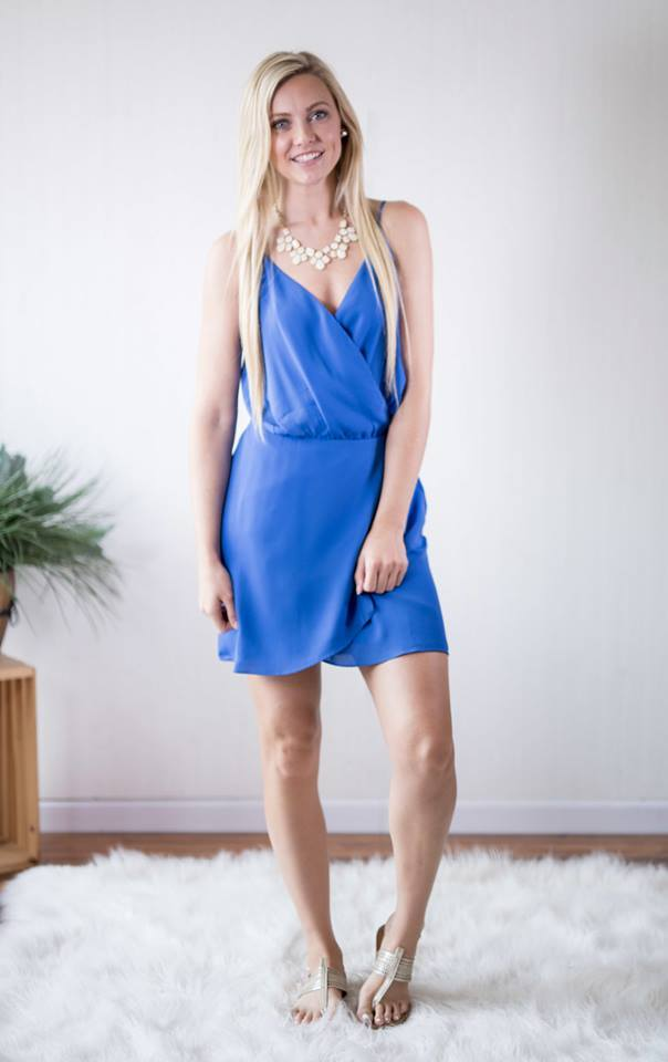 Capri Blue Wrap Dress, SALE, Naked Zebra, badhabitboutique