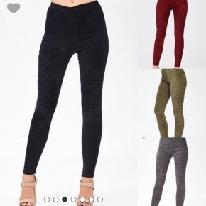 Suede Motto Leggings