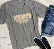 Dreamer V-Neck Graphic T-shirt