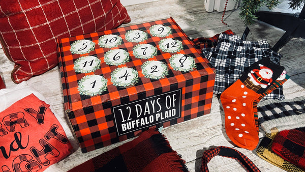 12 Days of Buffalo Plaid Christmas Advent Calendar | PREORDER SHIPS December 16THth, 12 DAYS, BAD HABIT BOUTIQUE , BAD HABIT BOUTIQUE