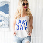 LAKE DAY Tank - white, LAKE, GRAPHICS, badhabitboutique