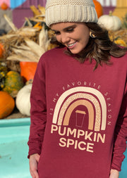 taste the pumpkin spice rainbow sweatshirt
