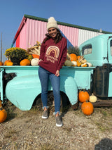 Taste the Pumpkin Spice Rainbow Sweatshirt - Garnet, CLOTHING, BAD HABIT APPAREL, BAD HABIT BOUTIQUE