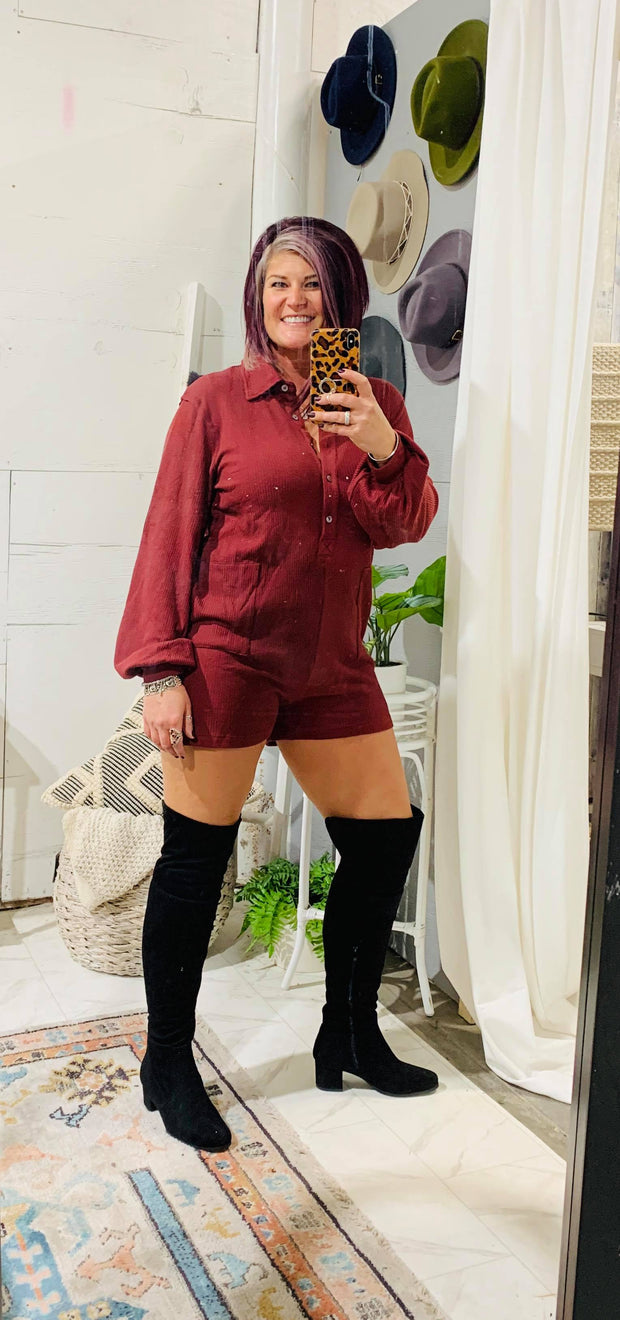 Forever More Long Sleeve Romper