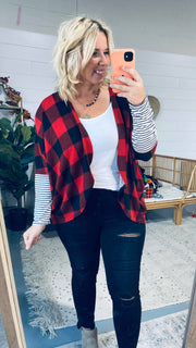 buffalo plaid cardigan