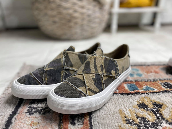 Ivette Camo Slip on Sneaker - Very G | FINAL SALE, SHOES, very g, BAD HABIT BOUTIQUE