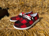 Buffalo Plaid Slip on Shoe - Very G | FINAL SALE, CLOTHING, very g, BAD HABIT BOUTIQUE
