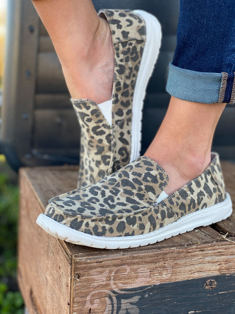 Simi Leopard Slip On Shoes - Very G | FINAL SALE, SHOES, very g, BAD HABIT BOUTIQUE