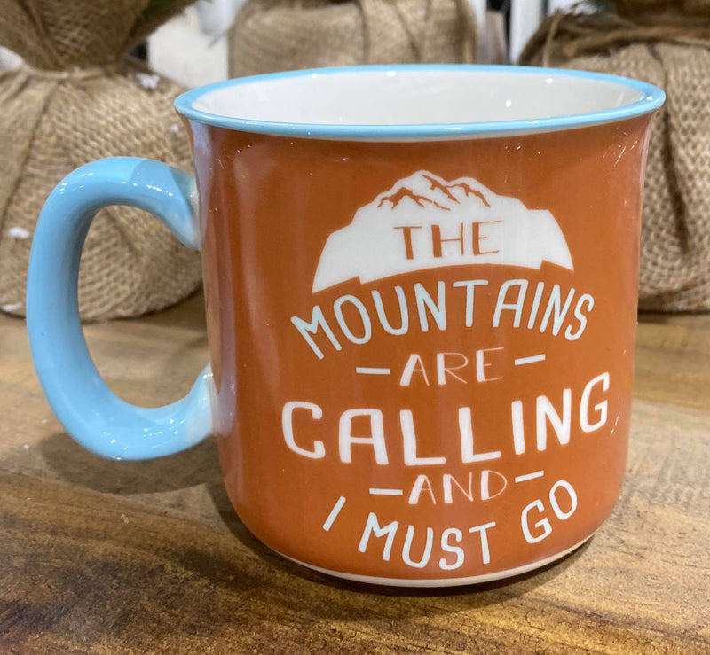 The Mountains are Calling Mug, HOME, Faire, BAD HABIT BOUTIQUE