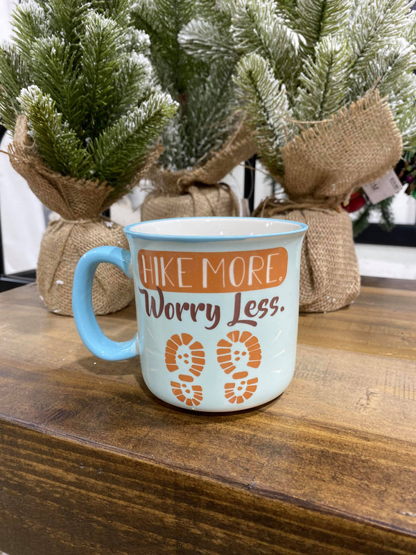 Hike More Worry Less Mug, HOME, FAIRE, BAD HABIT BOUTIQUE