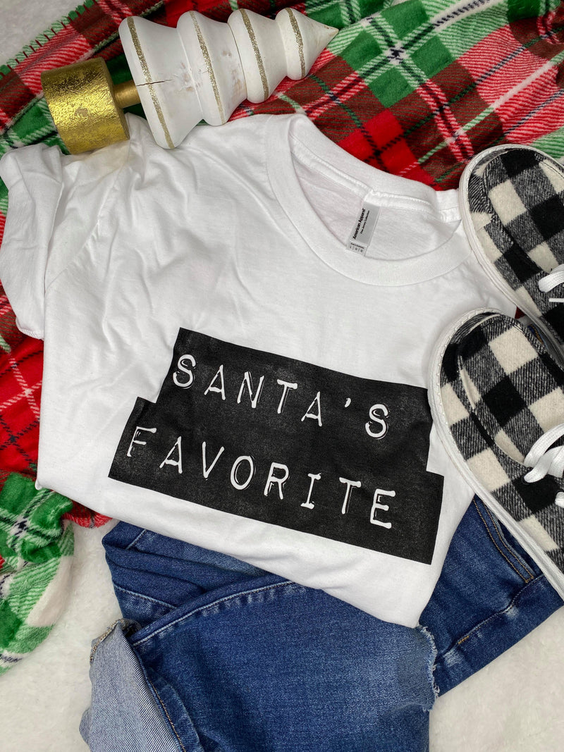 30 DAYS 30 DEALS: Santa's Favorite T-shirt, CLOTHING, BAD HABIT APPAREL, BAD HABIT BOUTIQUE