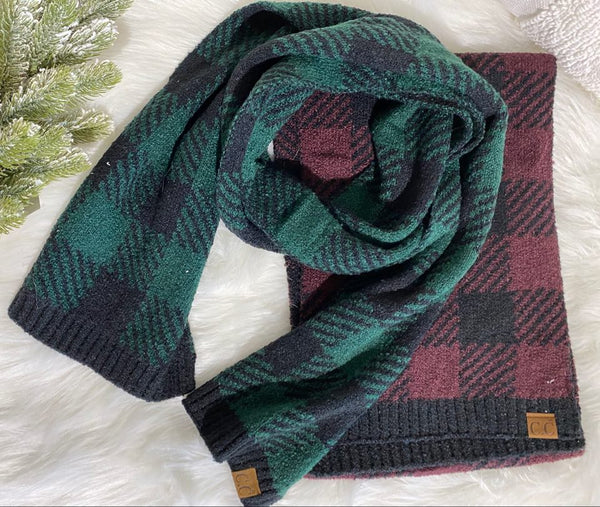 C.C. Buffalo Plaid Scarf, CLOTHING, Joia, BAD HABIT BOUTIQUE