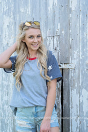 The All American Baseball Tee | Gray