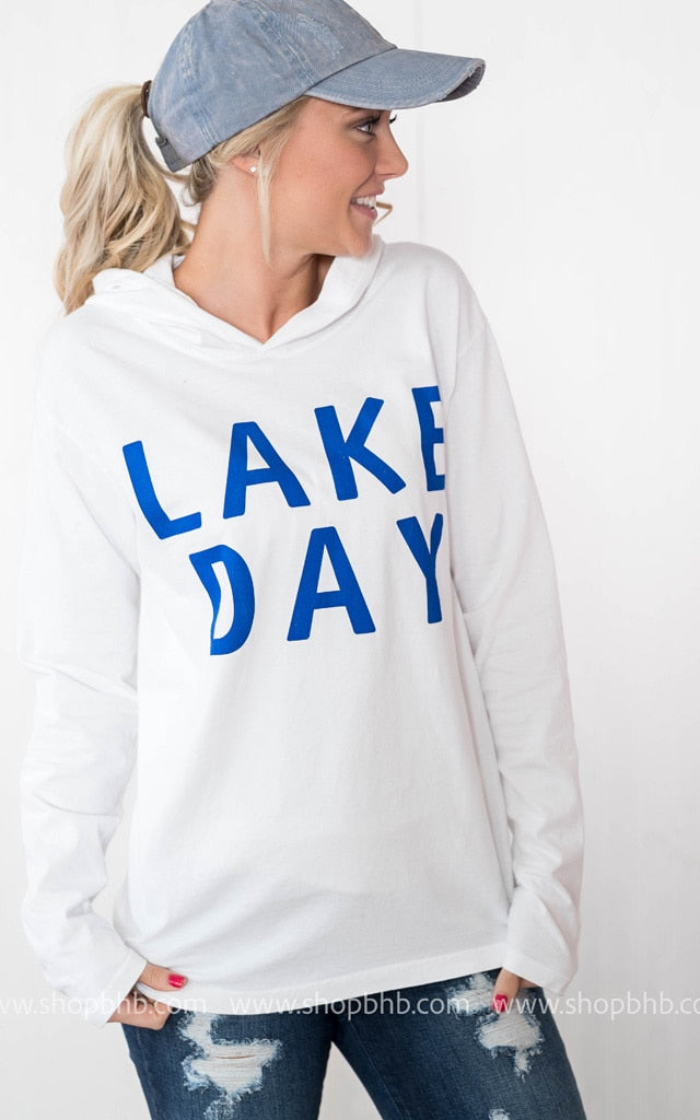 Lightweight Lake Day Hoodie - white, WHAT'S NEW, vendor-unknown, badhabitboutique