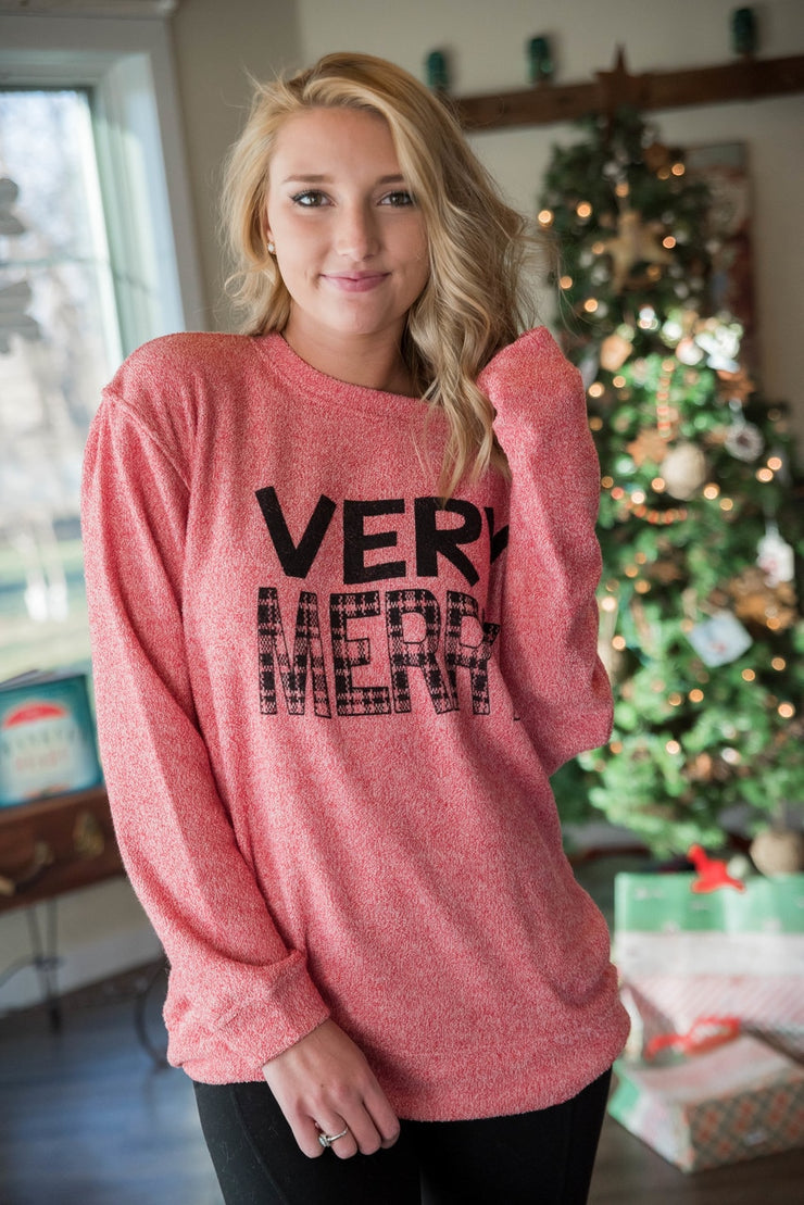 So Soft Very Merry Sweater - Red