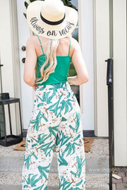 Tropical Palazzo Pants | Ivory