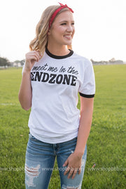 Meet Me in the Endzone , football graphic tee, graphic tee, football, football tshirt, football apparel, womens football apparel