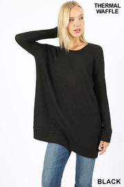 black thermal top, tops, tops, thermal top, thermal tops