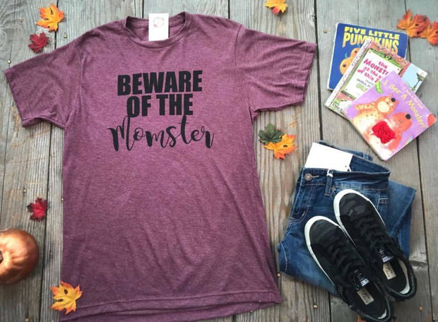 Beware of the Momster | Wine, HALLOWEEN, BAD HABIT APPAREL, BAD HABIT BOUTIQUE halloween fall graphic tshirt