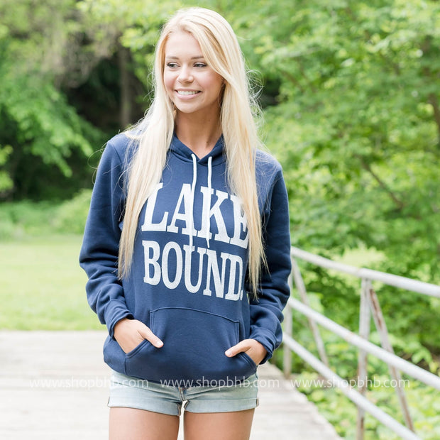 Lake Bound Hoodie - Navy, CLOTHING, BAD HABIT APPAREL, BAD HABIT BOUTIQUE