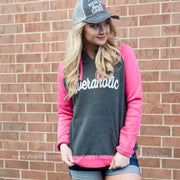 Riveraholic Two Toned Hoodie, CLOTHING, BAD HABIT APPAREL, BAD HABIT BOUTIQUE