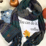 Teal Knit CC Scarf and Hat Collection Final sale, ACCESSORIES, CC, BAD HABIT BOUTIQUE