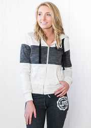 Love Zip Up Hoodie-Colorblock, WHAT'S NEW, vendor-unknown, badhabitboutique