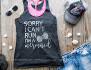 Sorry Im a Mermaid Tank - Black