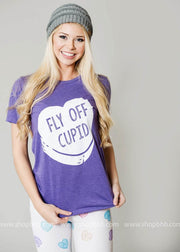 Fly Off Cupid - purple, CUSTOM MADE, GRAPHICS, badhabitboutique