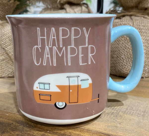 Happy Camper Mug, HOME, FAIRE, BAD HABIT BOUTIQUE