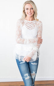 Delicate as a Flower Lace Blouse, SALE, HyFve, badhabitboutique
