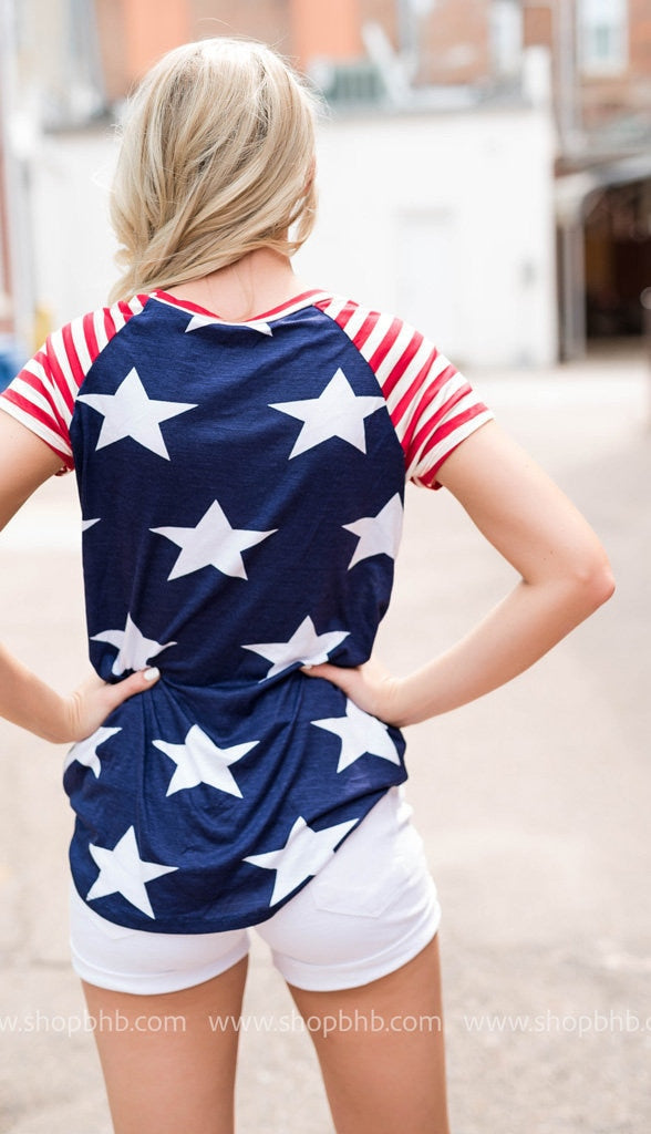 Star Spangled Banner  Tee | Navy