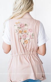 Embroidered Vest, SALE, ashley26, badhabitboutique