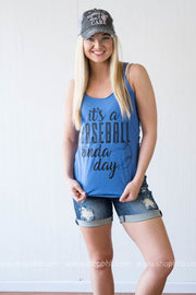 Baseball Kinda Day Tank, BASEBALL, GRAPHICS, BAD HABIT BOUTIQUE