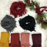Fringe Infinity Scarf, ACCESSORIES, Leto, BAD HABIT BOUTIQUE
