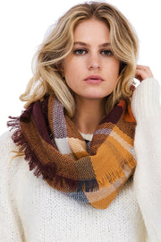Plaid Infinity Scarf, SCARVES, Leto, BAD HABIT BOUTIQUE