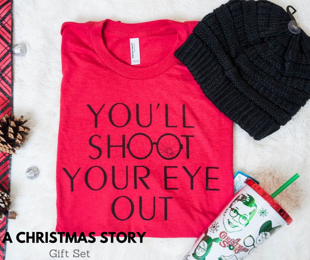 gift, holiday gift, shoot your eye out, shoot your eye out gift, a christmas story,  a christmas story gift set, gift set, holiday gifts