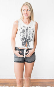 Black Denim Shorts, SALE, vendor-unknown, badhabitboutique