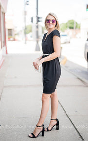 Belted Dress | Black, SALE, vendor-unknown, badhabitboutique