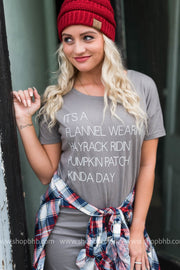 Its a Flannel Wearin, Hayrack Ridin, Pumpkin Patch Kinda Day  Dress, HALLOWEEN, vendor-unknown, badhabitboutique