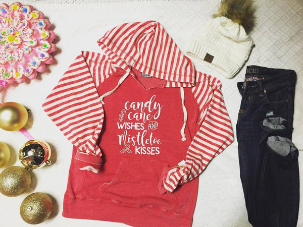 Candy Cane Wishes and Mistletoe Kisses, CLOTHING, BAD HABIT APPAREL, BAD HABIT BOUTIQUE