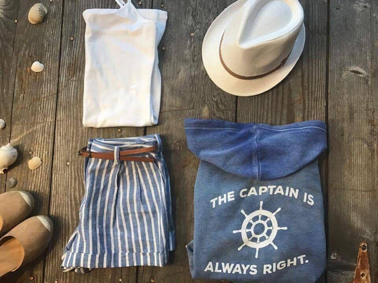 Captain is Always Right Zip Up Hoodie, LAKE, GRAPHICS, badhabitboutique